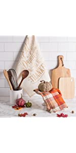 thanksgiving kitchen towels, thanksgiving dish towels, holiday dish towels, fall dish towels