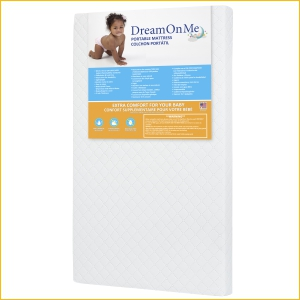 dream on me, mattress, pack n play, playard, crib, toddler bed, foam, DOM Family, DOM
