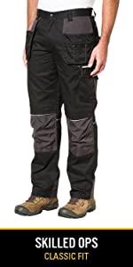 durable cordura canvas reflective knee pad workwear pant