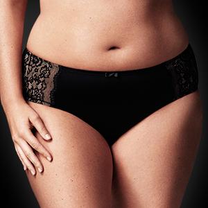 olga, flirty, womens underwear, full figure underwear, bikini bottoms