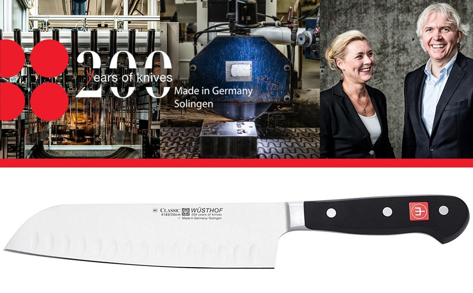 200 years of knives classic series santoku knife hallow edge