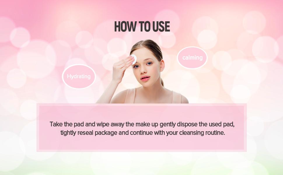 Beaukon Gentle Herbal Makeup Cleansing Pads 4