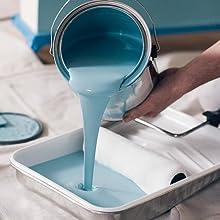 paint, low odor paint, low voc paint, green paint, blue paint