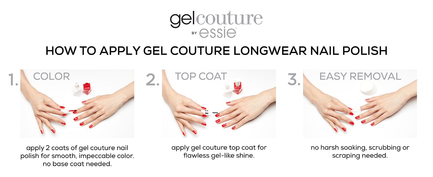 essie gel couture, essie gel nail polish, at home gel nail polish, how to apply gel nail polish