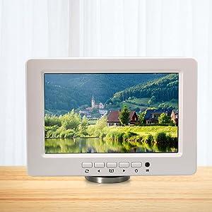 Inwall Video Monitor Display Screen - 9 Inch 12V Universal Widescreen LCD Flush Wall Mount
