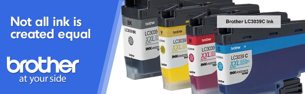 brother lc3037c, cyan, ink, cartridge, inkjet, printer, tank