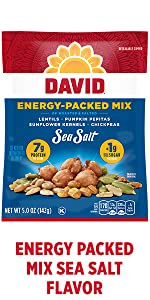 DAVIDs energy boosting snacks – Sea Salt Flavored