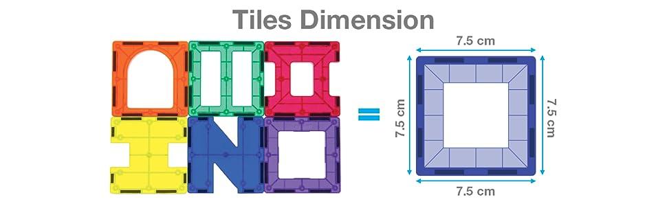 tiles dimension