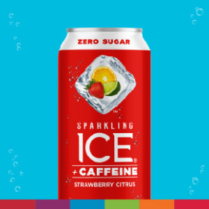 Strawberry Citrus Sparkling Ice + Caffeine