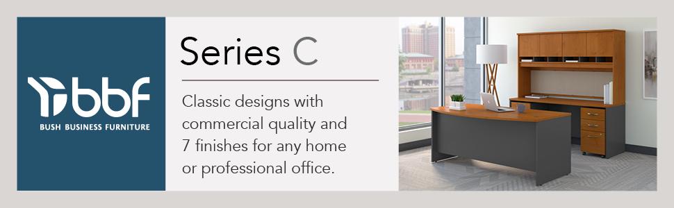 bbf,bush business furniture,series c,natural cherry,cherry,contemporary,bush,bush industries