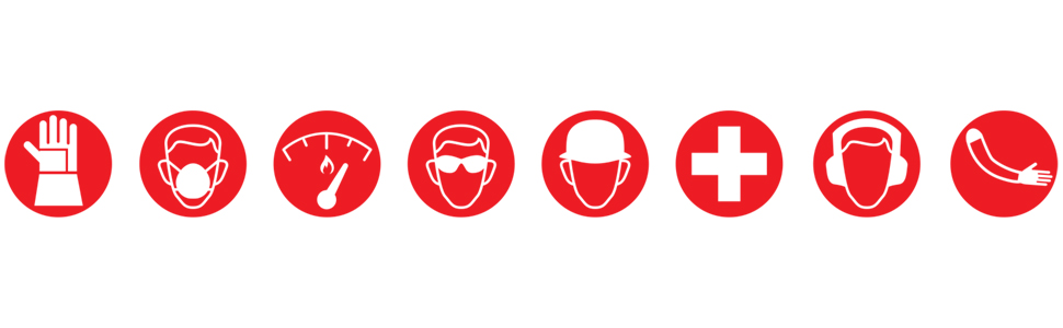 Magid, Glove, Safety, Work, Red, Icons, Logo