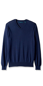 sweater, vneck sweater, long sleeve, long sleeve shirt, perry ellis