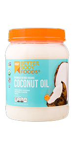Organic Naturally Refined Coconut Oil BetterBody Foods