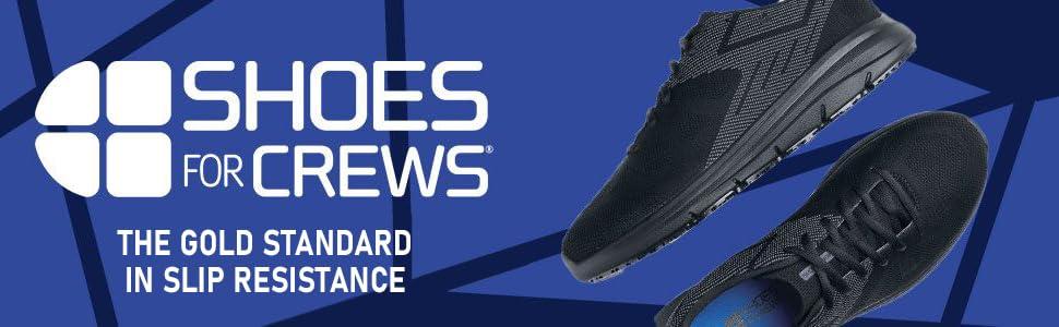 Shoes For Crews, black athletic slip-resistant footwear