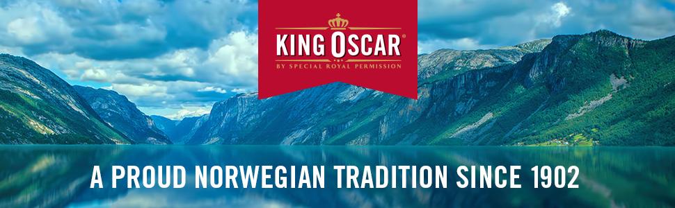 Norwegian sardines, King oscar, wild caught, premium