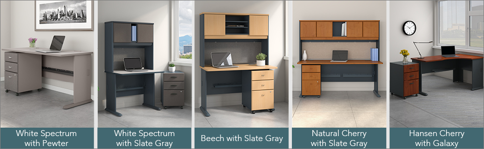 bush business furniture,bbf,series a,pewter,white spectrum,contemporary
