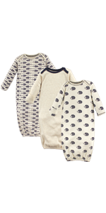organic baby gown, baby bedding, baby sleep
