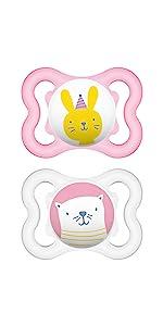 mam baby newborn pacifier soothie binky philips avent smilo wubbanub breastfed babies bpa free pink