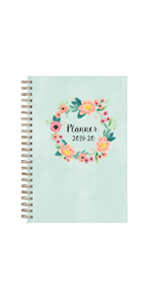 blue sky, laurel collection, academic planner cover, weekly, monthly, 2019-2020, 5x8