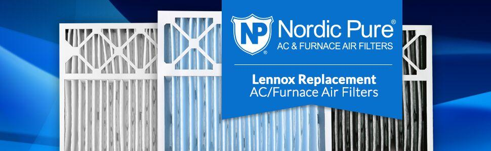 Nordic Pure, Air Filter, Filters, Air Conditioner, AC Furnace, AC/Furnace, Lennox Replacement