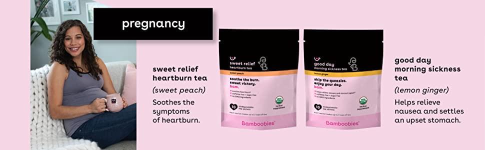 bamboobies heartburn tea morning sickness new mom pregnancy