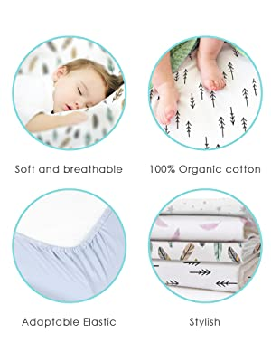 kushies baby bassinet sheet organic jersey cotton bedding sleep fitted