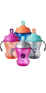 trainer straw cup kids baby child toddler infant drinking water bottle spill-free spill-proof