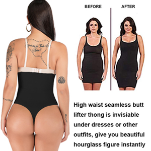 high waist shapewear tummy control thong panty