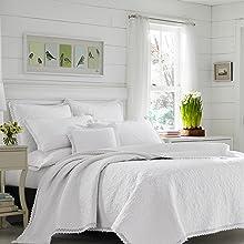 white bedding;white quilt;white king bedding;white queen bedding;cotton quilt;cotton bedding