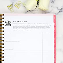 blue sky 2020-21 planners, black stripe collection, day designer step by step planning system,step 2