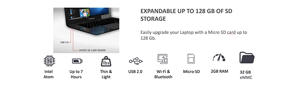 expandable up to 128gb storage