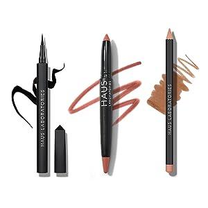 makeup kit, makeup set, value set, liquid eyeliner, lip crayon, lip liner pencil, lady gaga, hauslab
