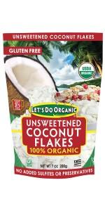 Unsweetened Organic Coconut Flakes