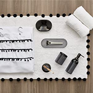 college dorm space saving can soap pump toothbrush holder shower curtain rug Waste Can organize tray