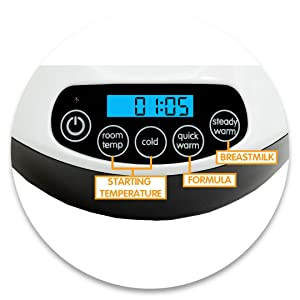 Easy to Use Digital Display Electric Bottle Warmer