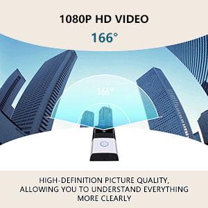 wide vision wifi video doorbell camera