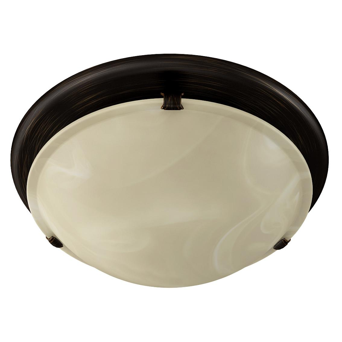 Broan Nutone 761rb Round Fan And Light Combo For Bathroom And Home Oil Rubbed Bronze Finish With Ivory Alabaster Glass 2 5 Sones 80 Cfm
