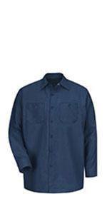 industrial long sleeve shirt, red kap long sleeve industrial shirt, long sleeve work shirt
