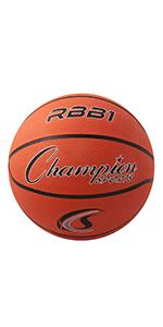 Champion Sports Rubber Cover Nylon Basketballs, Official Size 7, Orange