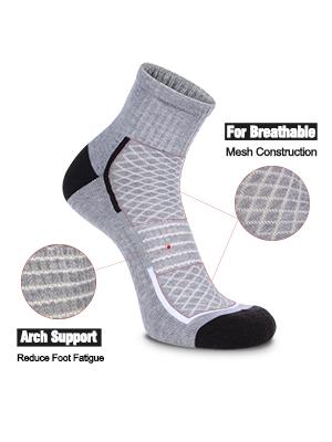 FLYRUN Mens Athletic Socks