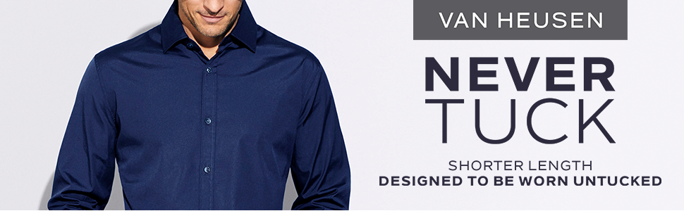 van heusen big tall never tuck shirt, big tall long sleeve shirt, big tall shirts for men