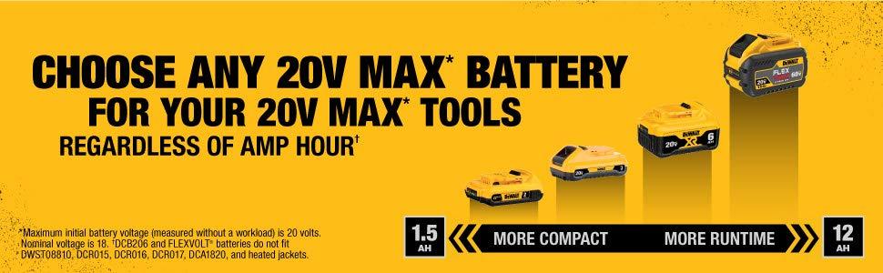 dewalt 20v batteries