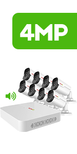 8Ch. 4MP Home Security System
