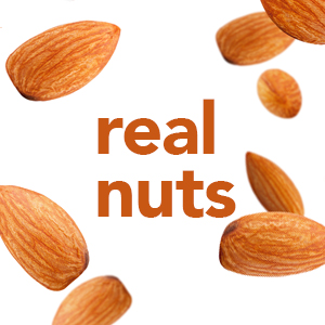 Roasted caramel colored almonds show that Special K cereals are made with real nuts