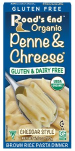 Road's End Organics Gluten Free Penne and Chreese, Organic, 6-Ounce Boxes