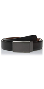 Men's Portfolio Reversible Patterned Plaque Belt