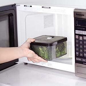 microwaveable, microwave safe, heat safe, splatter resistant, ventilation, lunch, lunch storage, ice