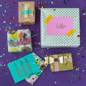 washi tape present gift wrapping