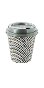 Pair these 12 oz paper coffee cups with lids for the ultimate coffee drinking experience on the go.