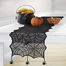 Elrene Home Fashions Crawling Halloween Table Runner
